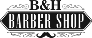 B & H Barber Shop Black Logo