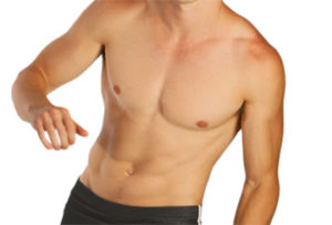Picture of a man with bare chest